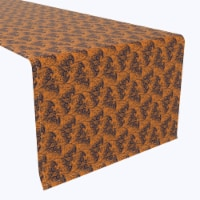 """Table Runner, 100% Polyester, 14x108"""", Halloween Bat Lace"""