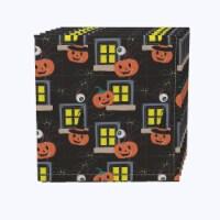 "Napkin Set, 100% Polyester, Set of 12, 18x18"", Halloween House Scare"