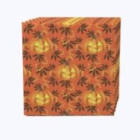 "Napkin Set, 100% Polyester, Set of 12, 18x18"", Halloween in Autumn"