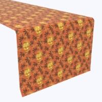 """Table Runner, 100% Polyester, 12x72"""", Halloween in Autumn"""