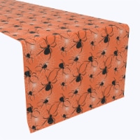 """Table Runner, 100% Polyester, 14x108"""", Halloween Spiders Web"""