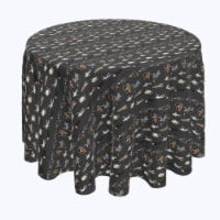 """Round Tablecloth, 100% Polyester, 60"""" Round, Halloween Usual Characters"""