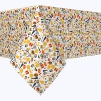 "Rectangular Tablecloth, 100% Polyester, 60x84"", Hanukkah Celebration Essentials"