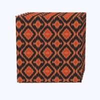 "Napkin Set, 100% Polyester, Set of 12, 18x18"", Ikat Halloween - 12 Units, 1 Product"