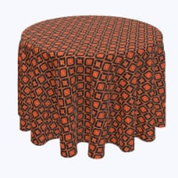 """Round Tablecloth, 100% Polyester, 60"""" Round, Ikat Halloween"""