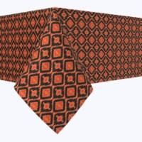 """Rectangular Tablecloth, 100% Polyester, 60x84"""", Ikat Halloween"""
