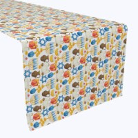 "Table Runner, 100% Polyester, 12x72"", Menorah Memories"