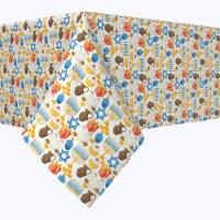 """Rectangular Tablecloth, 100% Polyester, 60x84"""", Menorah Memories"""