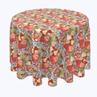 "Round Tablecloth, 100% Polyester, 90"" Round, Merry Christmas Wonderland"