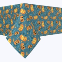 """Rectangular Tablecloth, 100% Polyester, 60x120"""", Pumpkin Witch Hat and Stars"""