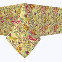 """Square Tablecloth, 100% Polyester, 54x54"""", Purim Party"""