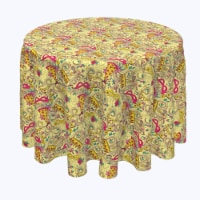 """Round Tablecloth, 100% Polyester, 96"""" Round, Purim Party - 1 Product"""
