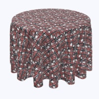 """Round Tablecloth, 100% Polyester, 60"""" Round, Red Beautiful Berry Weave - 1 Product"""