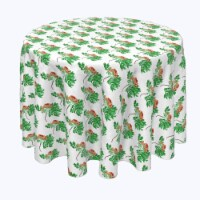 """Round Tablecloth, 100% Polyester, 60"""" Round, Rowan Tree Silhouettes - 1 Product"""