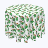 """Round Tablecloth, 100% Polyester, 90"""" Round, Rowan Tree Silhouettes"""