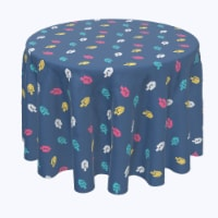 """Round Tablecloth, 100% Polyester, 84"""" Round, Simple Dreidel Toss"""