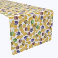 """Table Runner, 100% Polyester, 12x72"""", Spin and Win Dreidel Fun"""