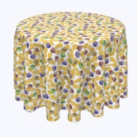 """Round Tablecloth, 100% Polyester, 84"""" Round, Spin and Win Dreidel Fun"""