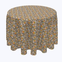 """Round Tablecloth, 100% Polyester, 96"""" Round, Steel Fall Skulls - 1 Product"""