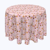 """Round Tablecloth, 100% Polyester, 102"""" Round, Sweet Sweet Donut Bake - 1 Product"""