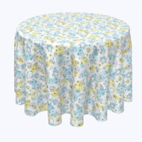 """Round Tablecloth, 100% Polyester, 102"""" Round, Watercolor Hanukkah and Dots"""