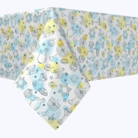 "Rectangular Tablecloth, 100% Polyester, 60x104"", Watercolor Hanukkah and Dots"