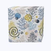 """Napkin Set, 100% Polyester, Set of 12, 18x18"""", Winter Swirls and Twirls"""