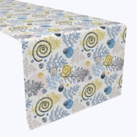 "Table Runner, 100% Polyester, 12x72"", Winter Swirls and Twirls"