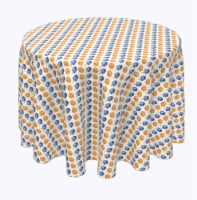 "Round Tablecloth, 100% Polyester, 120"" Round, Yummy Donuts and Sevivons"