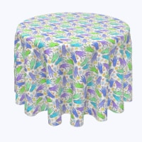 """Round Tablecloth, 100% Polyester, 84"""" Round, Zombie Hands and Eyes"""