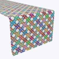 """Table Runner, 100% Polyester, 12x72"""", Abstract Colorful Octagon"""