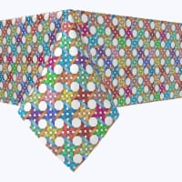 """Rectangular Tablecloth, 100% Polyester, 60x120"""", Abstract Colorful Octagon"""