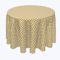 """Round Tablecloth, 100% Polyester, 84"""" Round, Apple Pie Weave Wicker - 1 Product"""