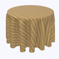 """Round Tablecloth, 100% Polyester, 102"""" Round, Cane Weave Baskets"""