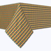"Rectangular Tablecloth, 100% Polyester, 60x84"", Colorful Geometric Lattice"
