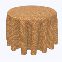 """Round Tablecloth, 100% Polyester, 120"""" Round, Criss Cross Bark Wicker"""