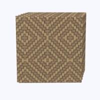 "Napkin Set, 100% Polyester, Set of 12, 18x18"", Diamond Wicker Wood Work"