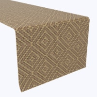 """Table Runner, 100% Polyester, 14x108"""", Diamond Wicker Wood Work - 1 Product"""