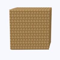 "Napkin Set, 100% Polyester, Set of 12, 18x18"", Fine Cane Woven Fibers - 12 Units, 1 Product"