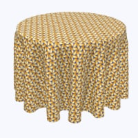 "Round Tablecloth, 100% Polyester, 102"" Round, Handmade Straw Wicker"
