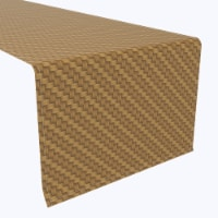 """Table Runner, 100% Polyester, 14x108"""", Step by Step Wicker Weave"""
