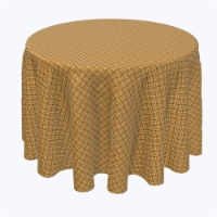 """Round Tablecloth, 100% Polyester, 120"""" Round, Wicker Reed Fence - 1 Product"""