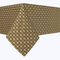 """Square Tablecloth, 100% Polyester, 84x84"""", Wicker Wood Carving - 1 Product"""