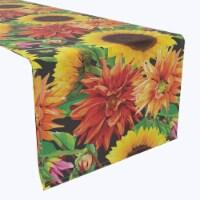 """Table Runner, 100% Polyester, 12x72"""", Sunflower Garden"""