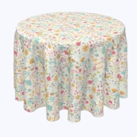 """Round Tablecloth, 100% Polyester, 96"""" Round, Blooming Springs"""