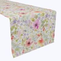 """Table Runner, 100% Polyester, 12x72"""", Botanical Garden Dogwood"""