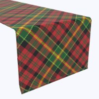 "Table Runner, 100% Polyester, 12x72"", Christmas Plaid"