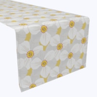 "Table Runner, 100% Polyester, 12x72"", Large Petal Flowers"