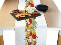 "Table Runner, 100% Polyester, 14x108"", Artistic Autumn Garland"