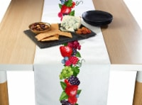 "Table Runner, 100% Polyester, 12x72"", Bountiful Berries Garland"